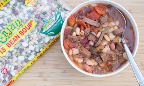 Smoky Brisket Cajun Bean Soup