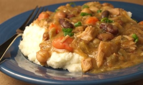 Thanksgiving Leftovers: 15 Bean Stew