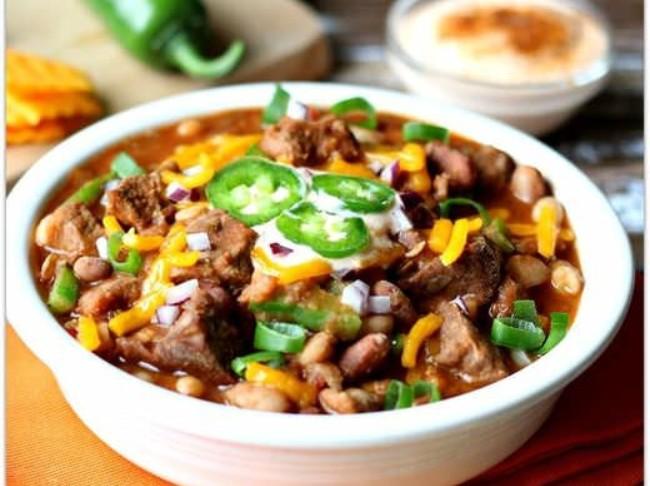 210 Beefy 15 Bean Chili Crockpot Recipe