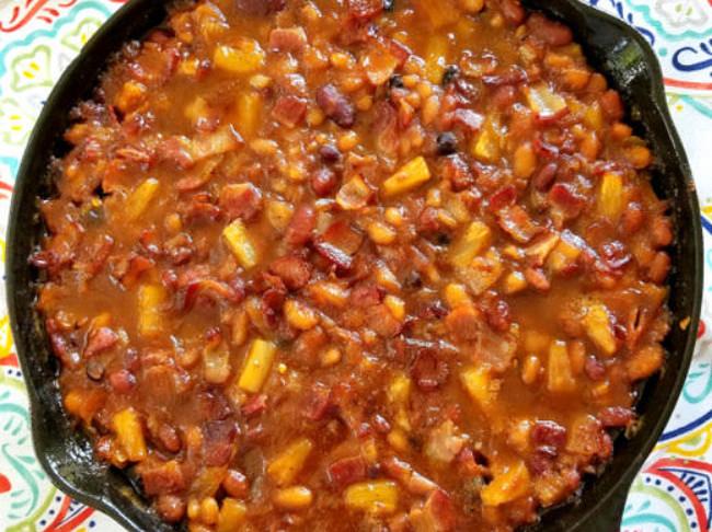 382 Pineapple Bacon Baked Beans 2 Pn