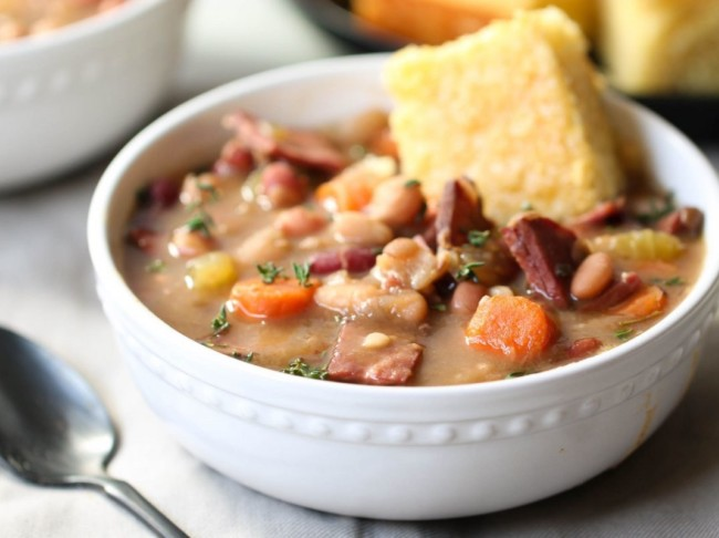 Six Sisters Slow Cooker Ham And Beans Hurst Beans