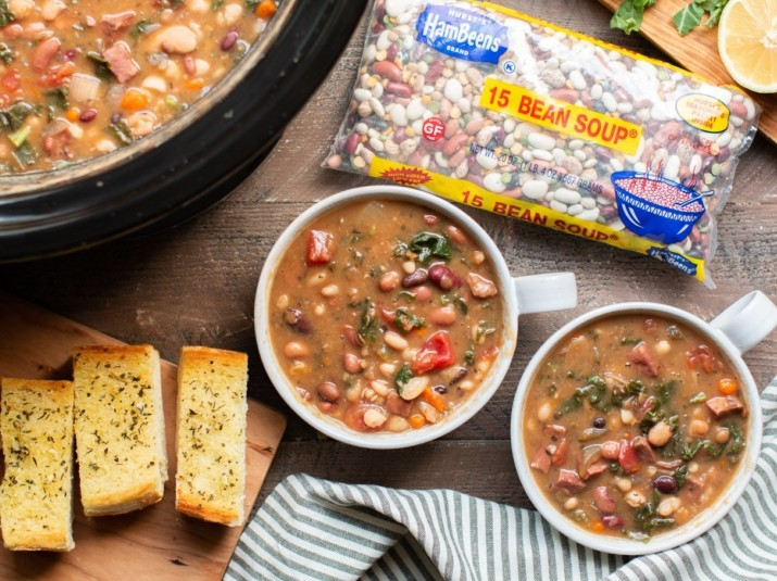 Slow Cooker 15 BEAN SOUP® with Ham & Kale