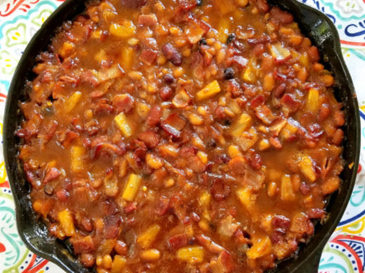 Pineapple and Bacon Baked Beans