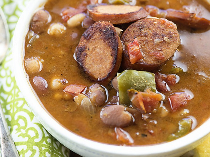 Slow Cooker Cajun Sausage and Bean Soup